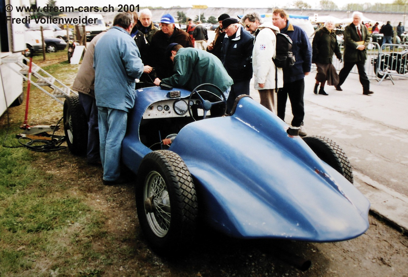 Peugeot 402 Monoplace Special Broual Vintage Montlhery 2001 03